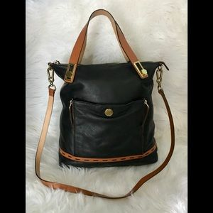 orYANY leather large satchel shoulder bag